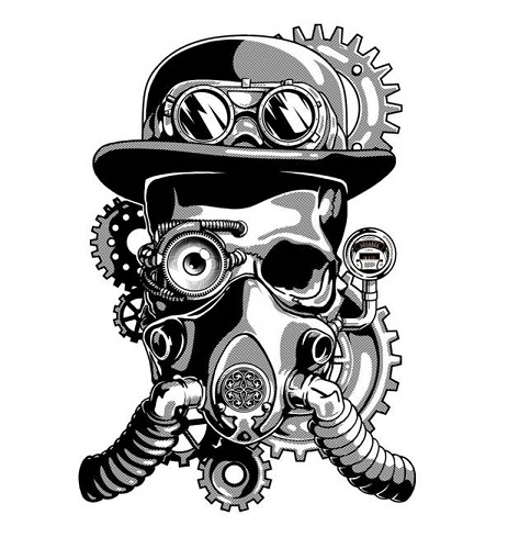 skull-with-gas-mask-drawing-39